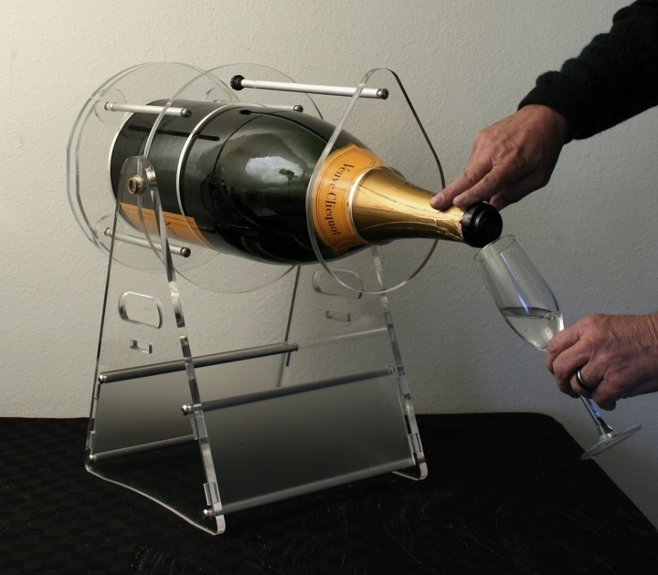 veuve clicquot ponsardin 12 liter brut champagne bottle cradle pivot and pour ne