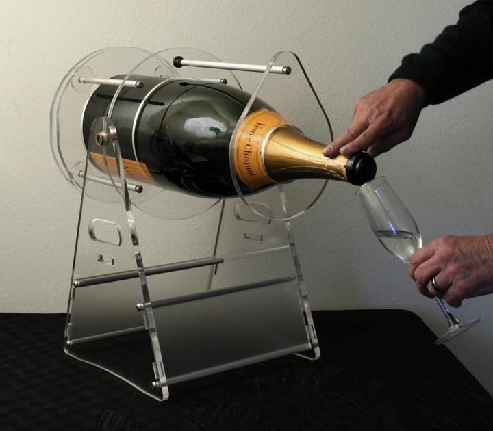 veuve clicquot ponsardin 12 liter brut champagne bottle cradle pivot and pour ne