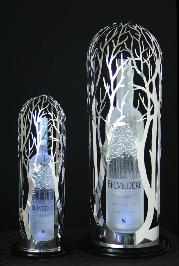 belveder bottle glorifiers led lights newcraft bottle service stainless steel ca