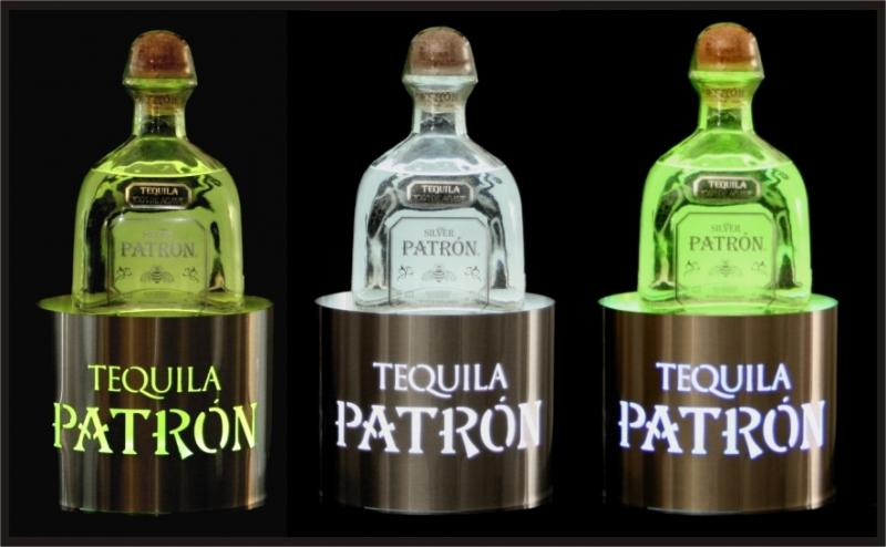 patron back bar lighted bottle glorifier newcraft tequlia pos displays