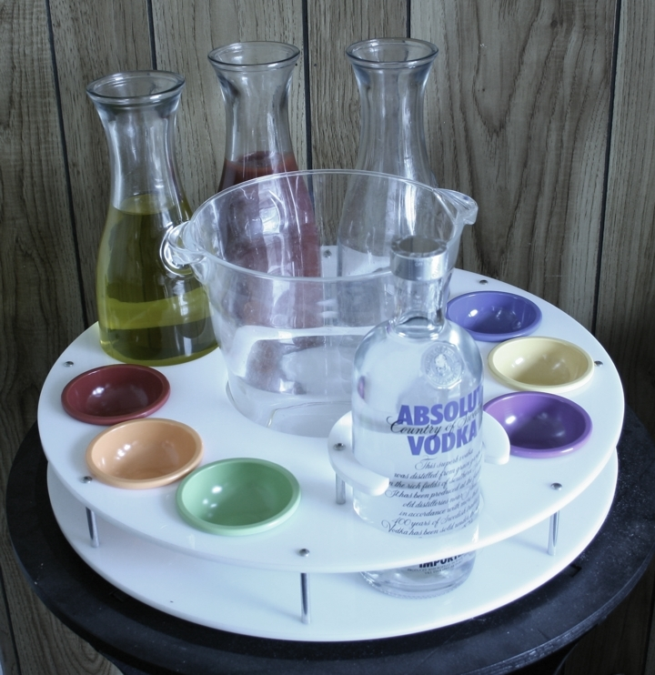 absolute specific round acrylic tray ice bucket pinch bowls stainless steel