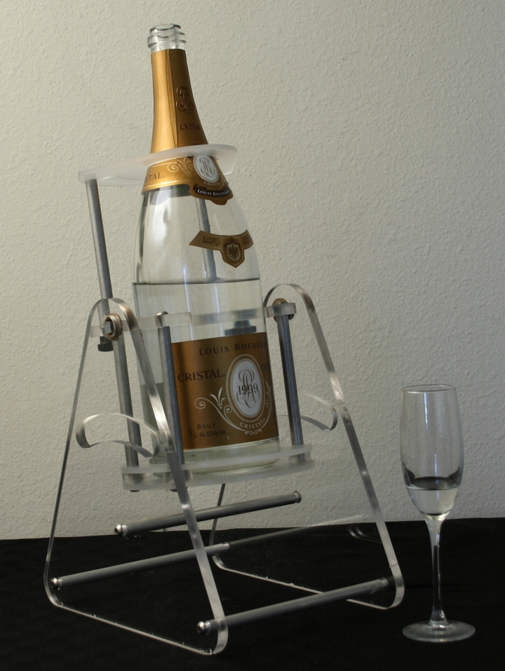 cristal 3 liter bottle cradle pivot and pour newcraft