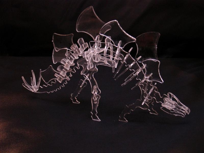 Clear Acrylic Dino