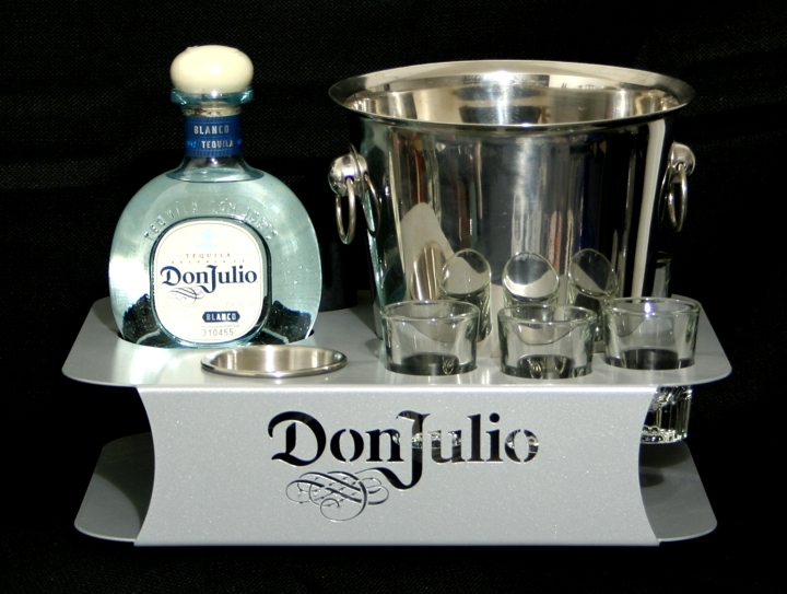don julio steel bottle service tray newcraft