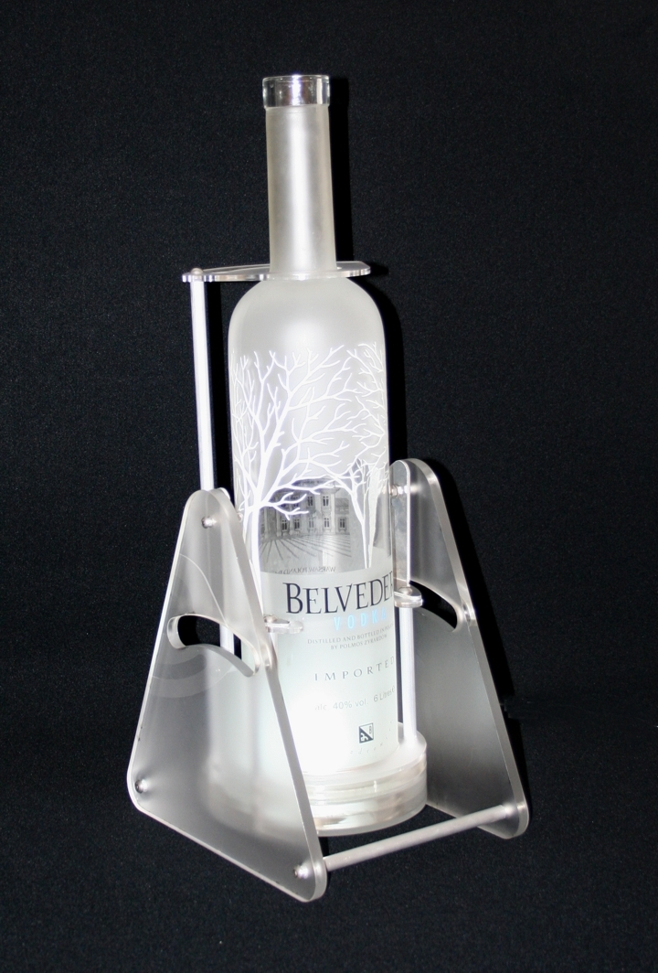 thepartybomber newcraft belvedere vodka bottle cradle pivot and pour