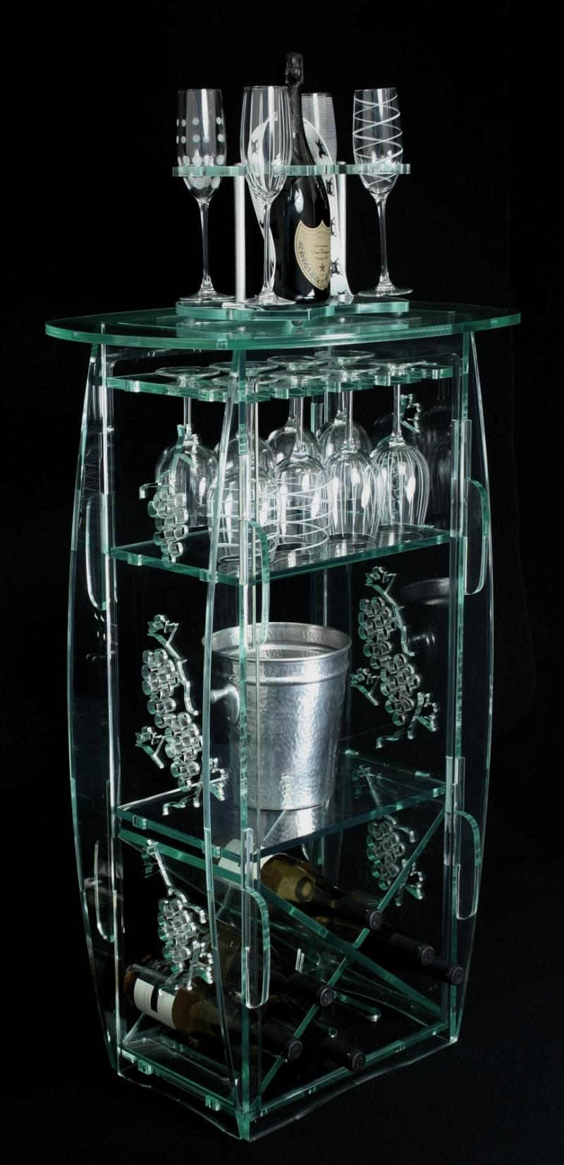 green edge glass acrylic wine bar champagne tote