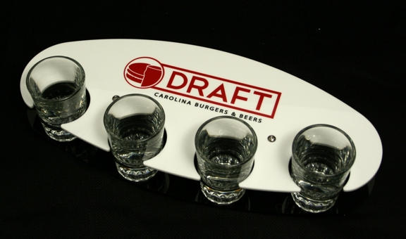 Acrylic flight tray