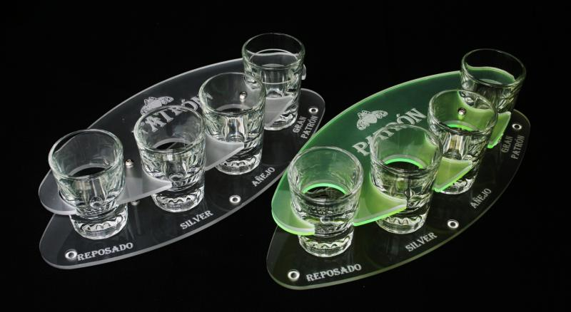 Patron tasting flight tray