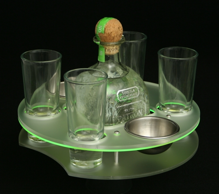 patron green edge tray bottle specific