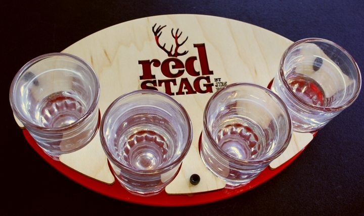 red stag whiskey flight