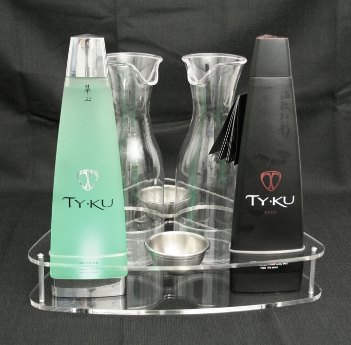 ty ku two bottle service tray newcraft party bomber sake
