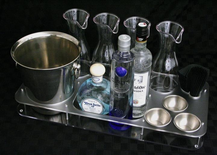 universal bottle service tray acrylic newcraft