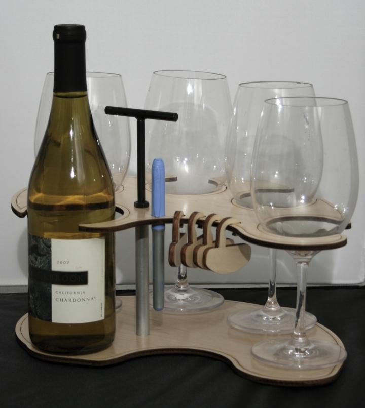 waiter write on wine tray charms