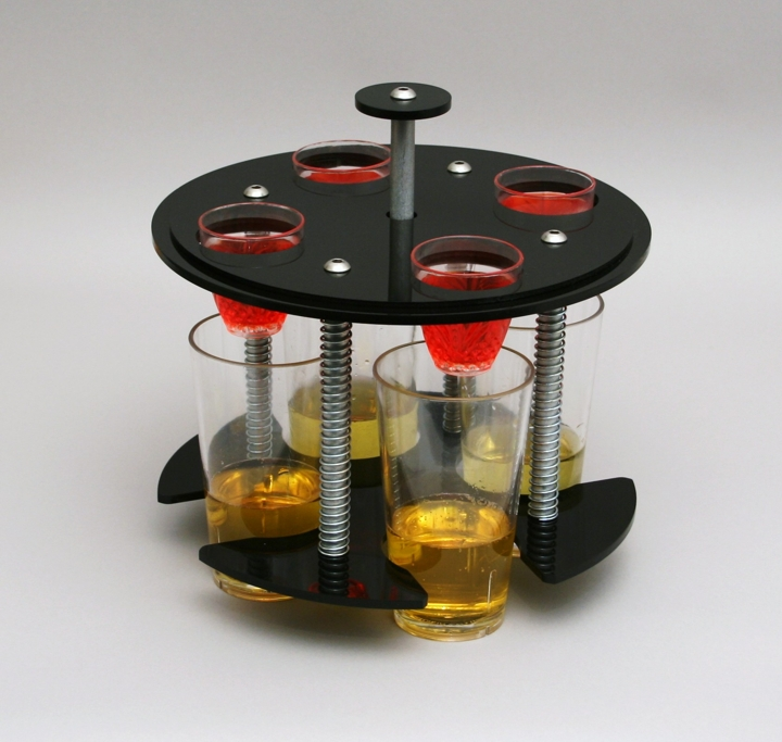 bomb dropper black stealth jager party bomber red bull new craft