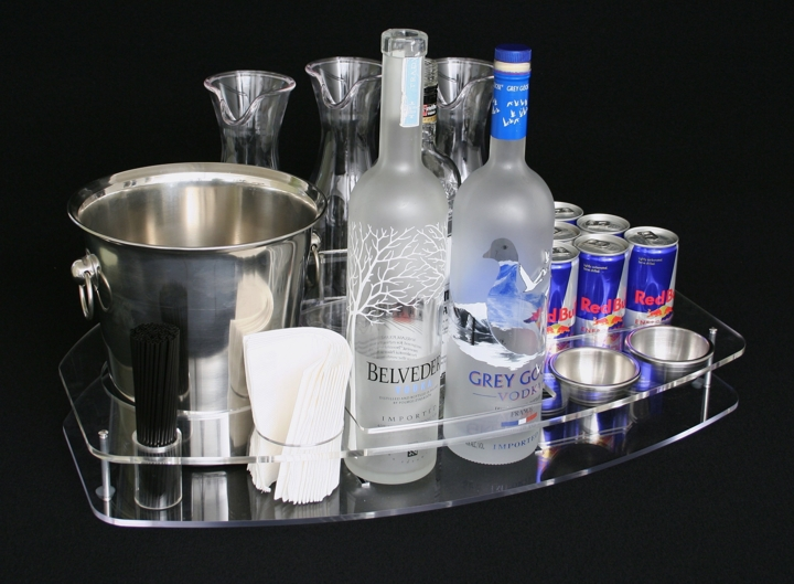 universal half circle acrylic bottle service display newcraft