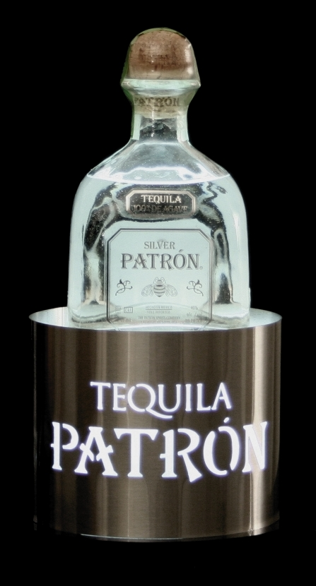 patron back bar bottle glorifier led light newcraft bottle service